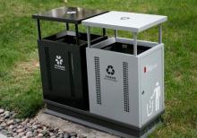 广告垃圾箱/果皮箱DS-LG-8