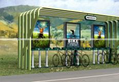 公共自行车棚/停车棚-公共自行车棚DS-ZX-11