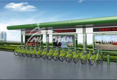 公共自行车棚/停车棚-公共自行车棚DS-ZX-13