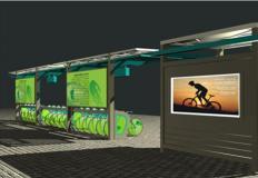 公共自行车棚/停车棚-公共自行车棚DS-ZX-4