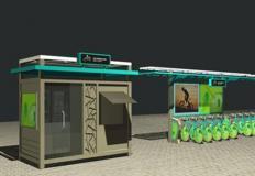公共自行车棚/停车棚-公共自行车棚DS-ZX-7