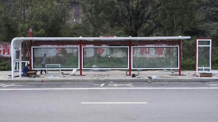 贵州六盘水公交站台实景案例