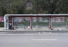 客户案例-贵州六盘水公交站台实景案例