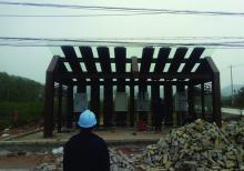 客户案例-南京乡村候车亭安装现场