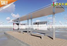 公交候车亭/公交站台-不锈钢候车亭DS-H-004