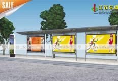 公交候车亭/公交站台-不锈钢候车亭DS-H-006