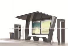 公交候车亭/公交站台-现代候车亭XH-036