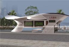公交候车亭/公交站台-现代候车亭XH-06