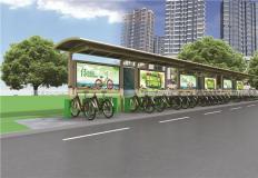 公共自行车棚/停车棚-公共自行车亭GT-002