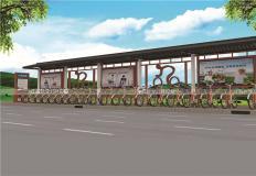 公共自行车棚/停车棚-公共自行车亭GT-003